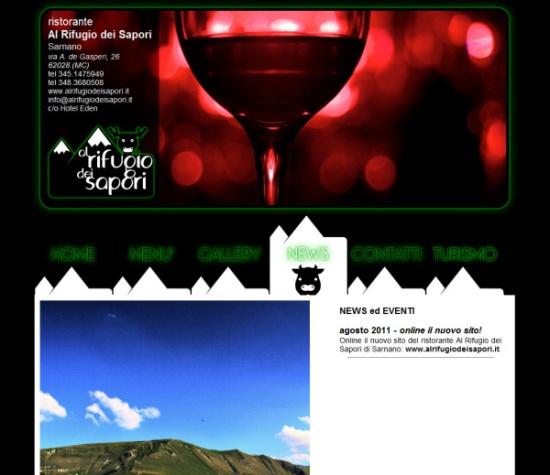 realizzazione sito web ristorante Al Rifugio dei Sapori