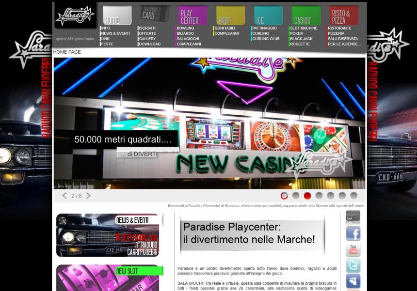realizzazione Sito Internet Paradise Monsano