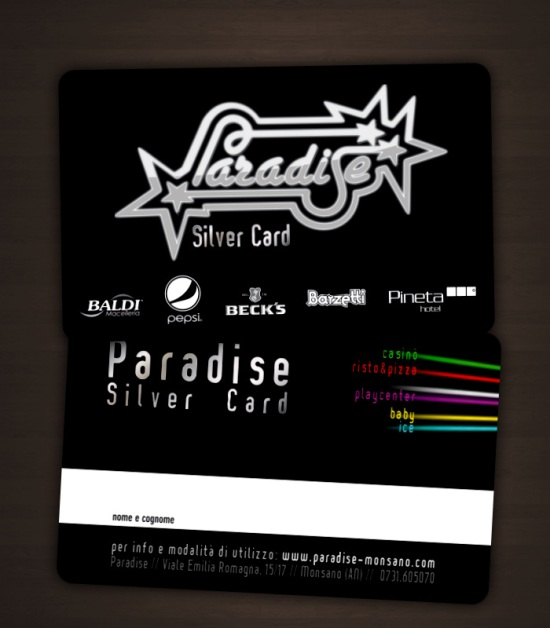 Paradise Silver Card