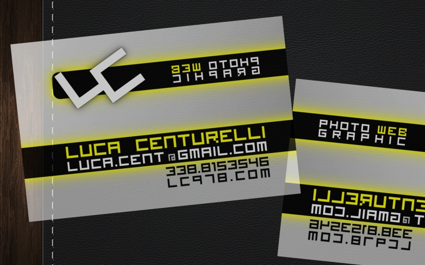 biglietto da visita trasparente