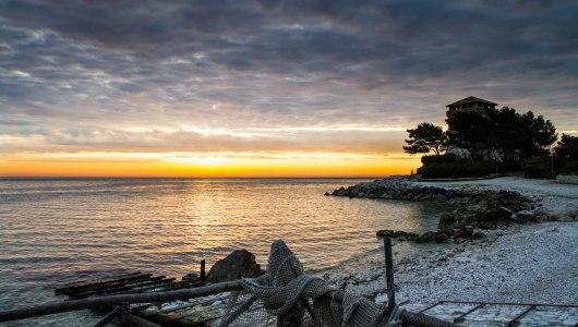 portonovo ancona baia adriatico mare spiaggia
