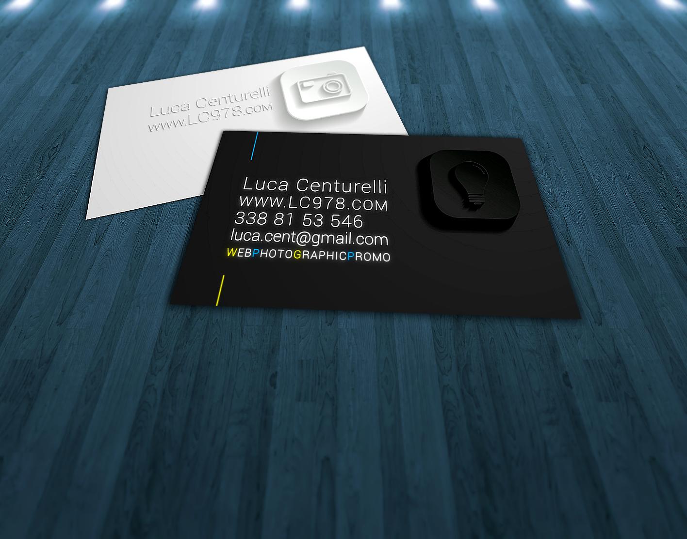 Estremamente ideazione e stampa biglietti da visita per fotografo | Luca Centurelli EH83