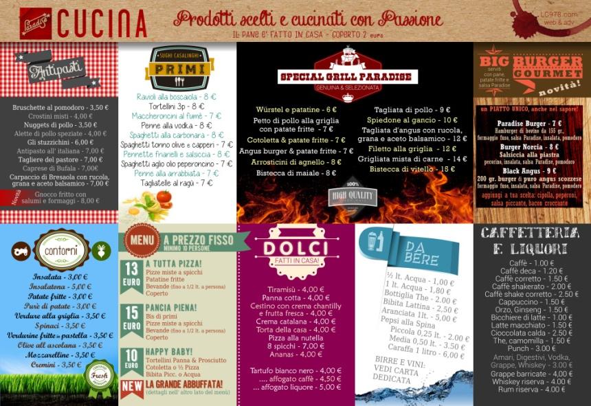 menu ristorante pizzeria ancona